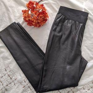NWOT Ann Taylor Black Leather Pants